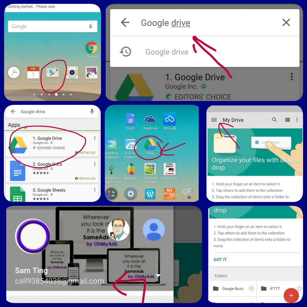 1  Download and install Google Drive on android phone – Oh My Ads