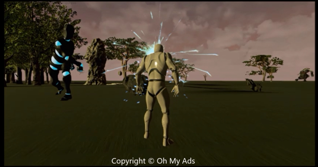3D character in forest2